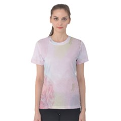Watercolor Floral Women s Cotton Tee