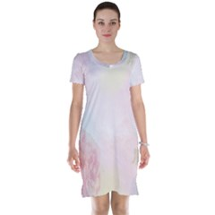 Watercolor Floral Short Sleeve Nightdress