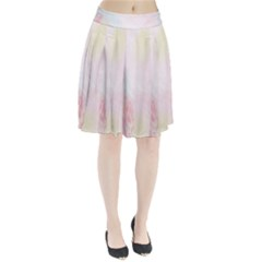 Watercolor Floral Pleated Skirt