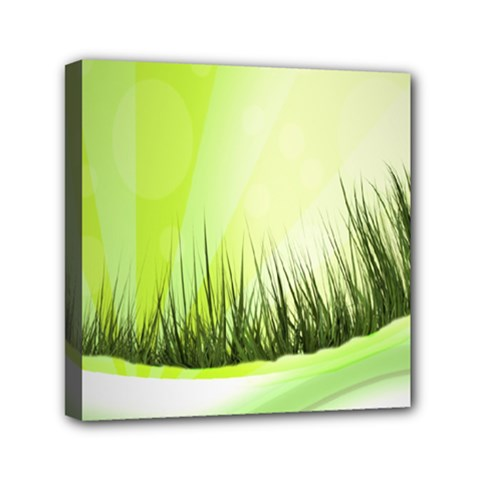 Green Background Wallpaper Texture Mini Canvas 6  X 6