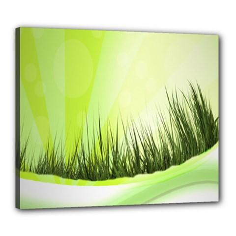 Green Background Wallpaper Texture Canvas 24  X 20