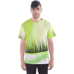 Green Background Wallpaper Texture Men s Sports Mesh Tee