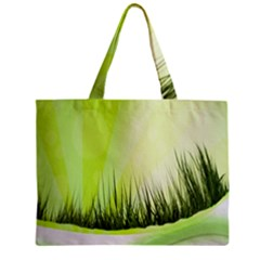 Green Background Wallpaper Texture Zipper Mini Tote Bag
