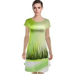 Green Background Wallpaper Texture Cap Sleeve Nightdress