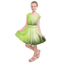 Green Background Wallpaper Texture Kids  Short Sleeve Dress