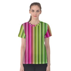 Vertical Blinds A Completely Seamless Tile Able Background Women s Cotton Tee