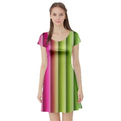 Vertical Blinds A Completely Seamless Tile Able Background Short Sleeve Skater Dress