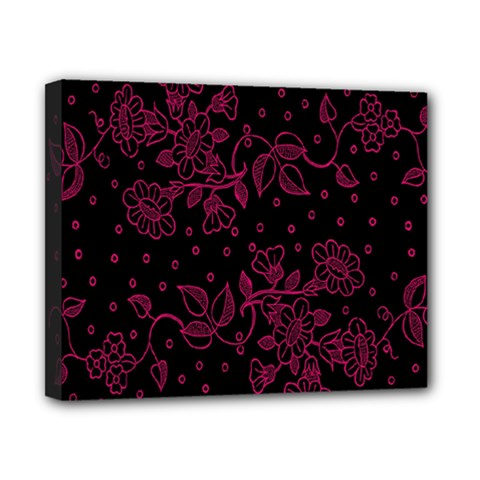 Pink Floral Pattern Background Canvas 10  X 8