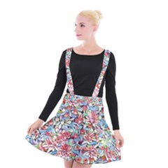 Lovely Floral 31f Suspender Skater Skirt