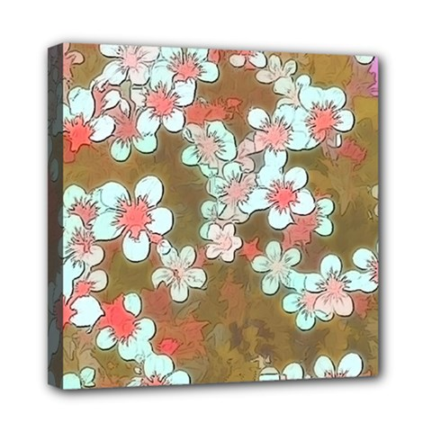 Lovely Floral 29 A Mini Canvas 8  X 8