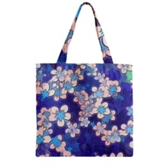 Lovely Floral 29 C Zipper Grocery Tote Bag