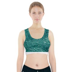 Thick Wet Paint B Sports Bra With Pocket