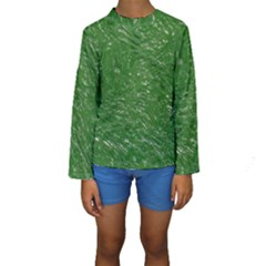 Thick Wet Paint D Kids  Long Sleeve Swimwear