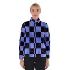 Square1 Black Marble & Blue Watercolor Winter Jacket