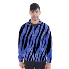 Skin3 Black Marble & Blue Watercolor (r) Wind Breaker (men)