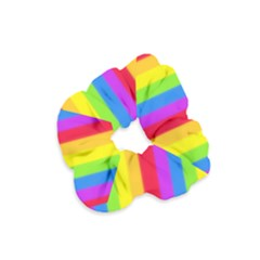 Rainbow Stripes Velvet Scrunchie