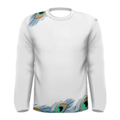 Beautiful Frame Made Up Of Blue Peacock Feathers Men s Long Sleeve Tee