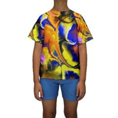 Fractal Art Pattern Cool Kids  Short Sleeve Swimwear