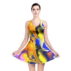 Fractal Art Pattern Cool Reversible Skater Dress