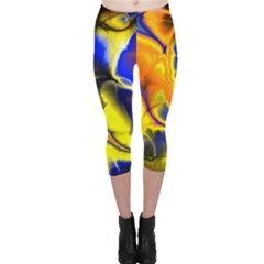 Fractal Art Pattern Cool Capri Leggings