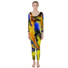 Fractal Art Pattern Cool Long Sleeve Catsuit