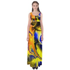 Fractal Art Pattern Cool Empire Waist Maxi Dress