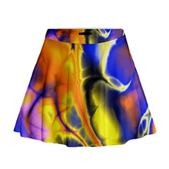 Fractal Art Pattern Cool Mini Flare Skirt