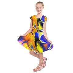 Fractal Art Pattern Cool Kids  Short Sleeve Dress
