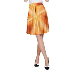 Red Leaf Macro Detail A Line Skirt