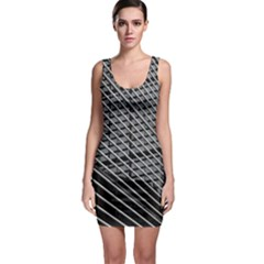 Abstract Architecture Pattern Sleeveless Bodycon Dress