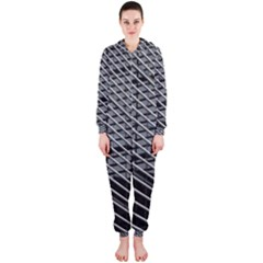 Abstract Architecture Pattern Hooded Jumpsuit (ladies)