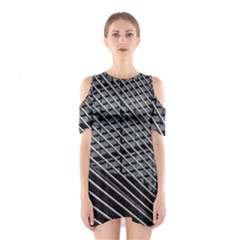 Abstract Architecture Pattern Shoulder Cutout One Piece