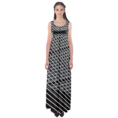Abstract Architecture Pattern Empire Waist Maxi Dress
