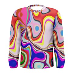 Colourful Abstract Background Design Men s Long Sleeve Tee