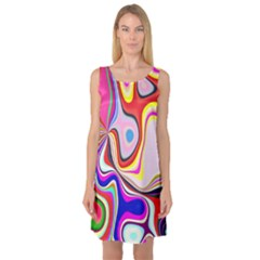 Colourful Abstract Background Design Sleeveless Satin Nightdress