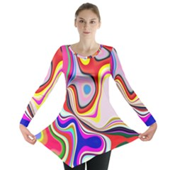 Colourful Abstract Background Design Long Sleeve Tunic