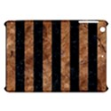 STRIPES2 BLACK MARBLE & BROWN STONE Apple iPad Mini Hardshell Case View1