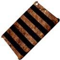 STRIPES2 BLACK MARBLE & BROWN STONE Apple iPad Mini Hardshell Case View4