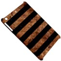 STRIPES2 BLACK MARBLE & BROWN STONE Apple iPad Mini Hardshell Case View5