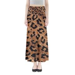 Skin5 Black Marble & Brown Stone Full Length Maxi Skirt