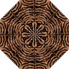Skin2 Black Marble & Brown Stone (r) Folding Umbrella