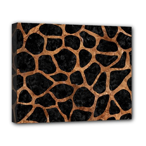 Skin1 Black Marble & Brown Stone (r) Deluxe Canvas 20  X 16  (stretched)