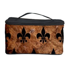 Royal1 Black Marble & Brown Stone Cosmetic Storage Case