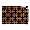 PUZZLE1 BLACK MARBLE & BROWN STONE Apple iPad Mini Hardshell Case (Compatible with Smart Cover) View1