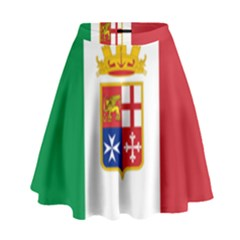 Naval Ensign Of Italy High Waist Skirt