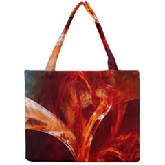 Red Abstract Pattern Texture Mini Tote Bag
