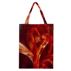 Red Abstract Pattern Texture Classic Tote Bag