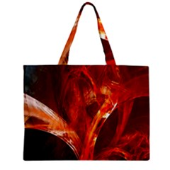 Red Abstract Pattern Texture Zipper Mini Tote Bag