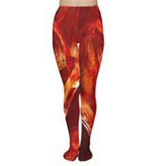 Red Abstract Pattern Texture Women s Tights