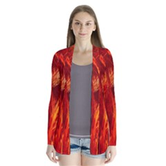 Red Abstract Pattern Texture Cardigans